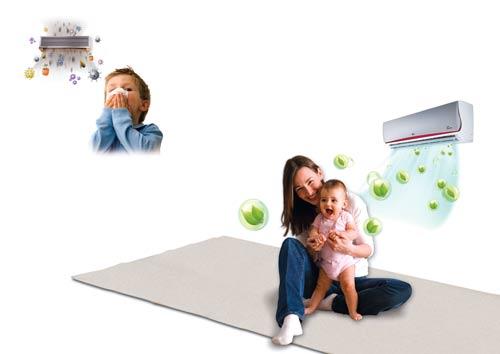 Bí quyết bảo vệ sức khỏe trẻ nhỏ khi nằm máy lạnh mùa nóng
